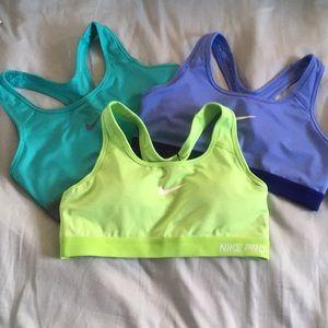 Nike sports bra (blue)